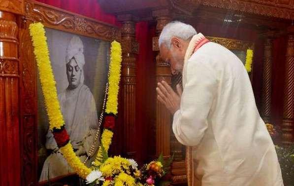 जयंती की पूर्व संध्या पर विवेकानंद को PM ने किया नमन