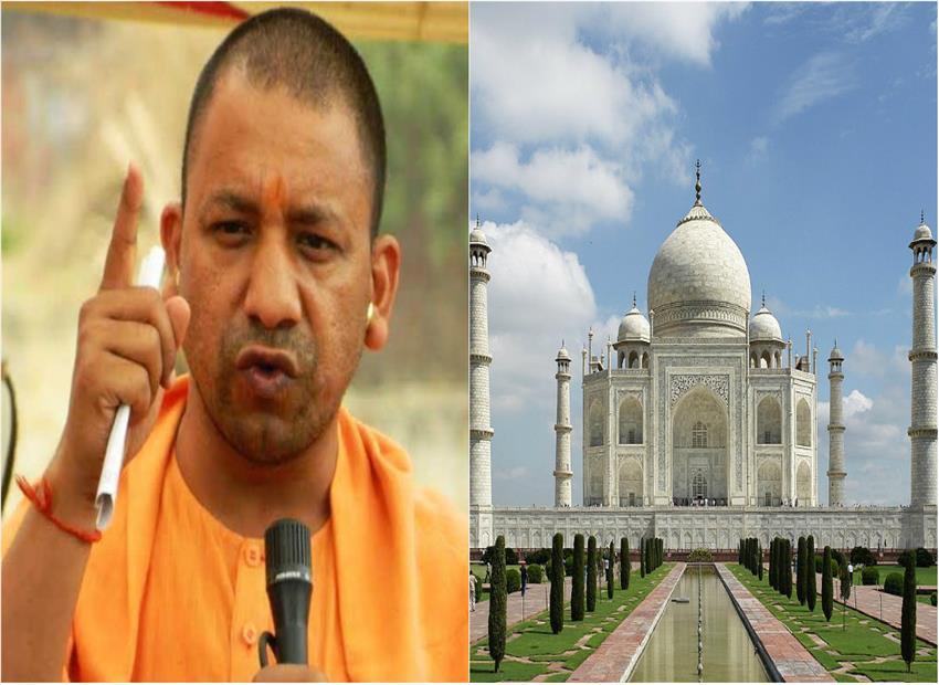 सीएम योगी के आगरा दौरे से पहले मचा हंगामा, ताजमहल में शिव चालीसा पढ़ने की कोशिश
