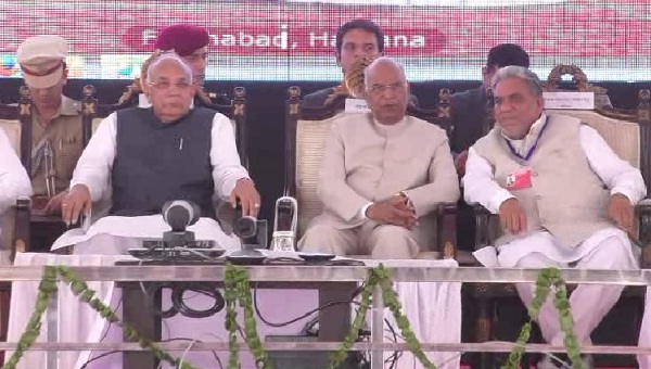 संत शिरोमणि कबीर महाकुंभ में पहुंचे रामनाथ कोविंद, लोगों को किया संबोधित