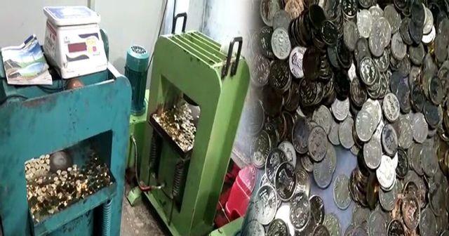 नकली सिक्के बनाने की फैक्ट्री का भंडाफोड़, 4 गिरफ्तार