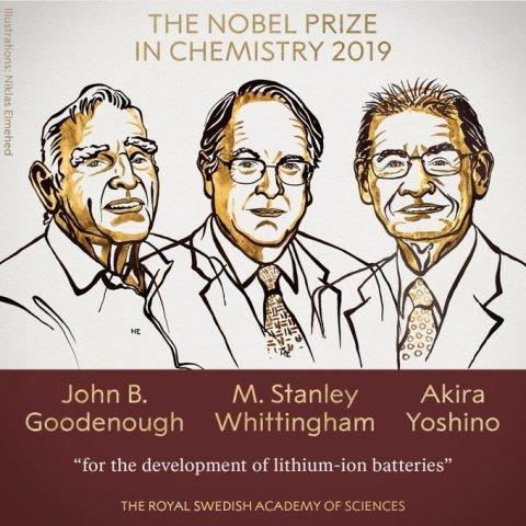 लिथियम-आयन बैटरी का विकास करने के लिए इन 3 वैज्ञानिकों को मिला कैमिस्ट्री का नोबेल पुरस्कार