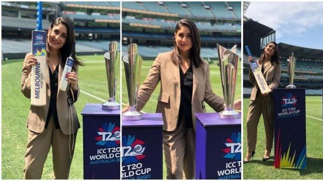 करीना कपूर ने किया मेलबर्न में टी-20 विश्व कप की ट्रॉफी का अनावरण