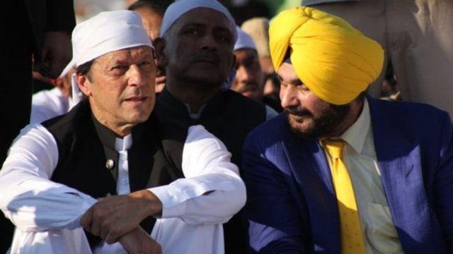 करतारपुर कॉरिडोर: सिद्धू ने इमरान खान को कहा आप पंजाब आएं तो सही, लोग फूल बरसाएंगे आप पर