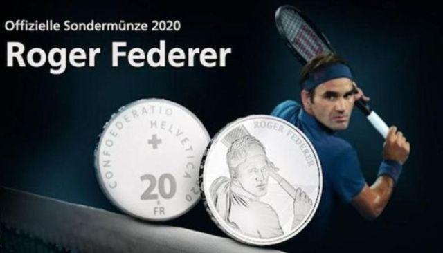 स्विस सरकार टेनिस खिलाड़ी फेडरर की तस्वीर के साथ जारी करेगी चांदी के सिक्के