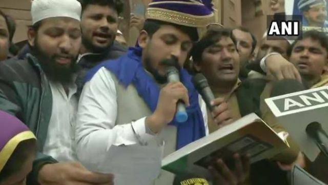 फिर जामा मस्जिद पहुंचे भीम आर्मी प्रमुख चंद्रशेखर, पढ़ी संविधान की प्रस्तावना