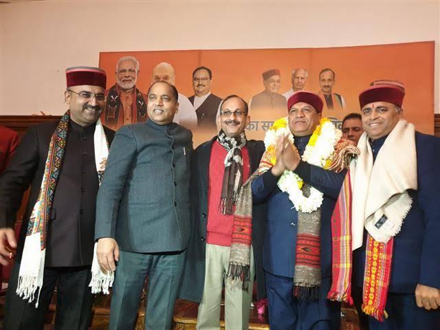 हिमाचल BJP के अध्यक्ष बने डॉ. राजीव बिंदल, कहा पार्टी को आगे ले जाऊंगा