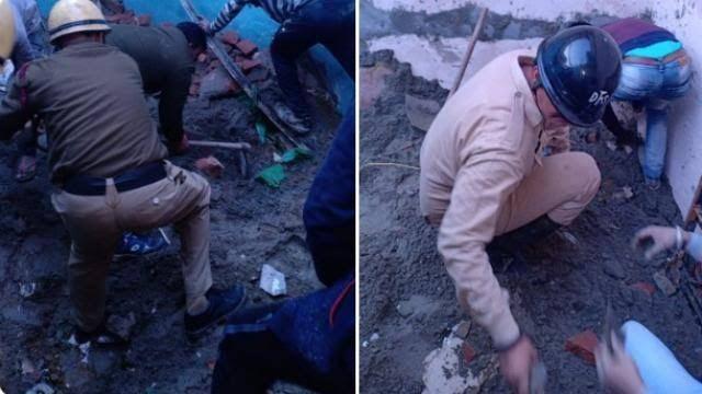 दिल्ली: भजनपुरा में निर्माणाधीन इमारत गिरी, कोचिंग पढ़ने गए तीन बच्चों समेत पांच लोगों की मौत