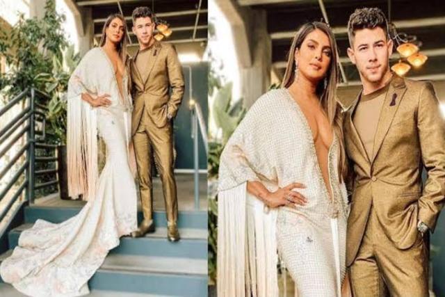 Grammy Awards 2020 में पति निक जोनस संग शामिल हुईं Priyanka Chopra, दिखा बोल्ड अंदाज