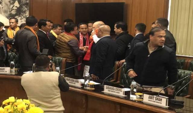 अलग बोडोलैंड की मांग खत्म, अमित शाह की मौजूदगी में NDFB के साथ हुआ शांति समझौता