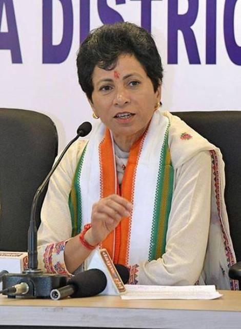 Congress प्रदेशाध्यक्ष सैलजा बोली, कानून व्यवस्था लाचार, जनता की आवाज लाठियों से दबा रही सरकार