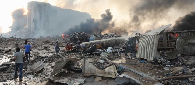 धमाके से दहल उठी लेबनान की राजधानी बेरूत, 78 मौतें, 4000 घायल