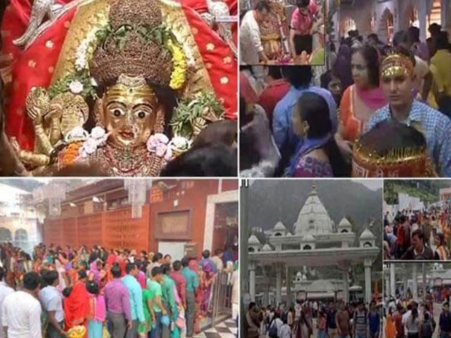 हिमाचल में नवरात्रि पर मंदिरों में उमड़ी भक्तों की भीड़