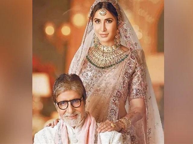 दुल्हन के लिबास में कैटरीना की फोटो अमिताभ बच्चन ने की शेयर, बोले- देवी जी अच्छी लग रही...