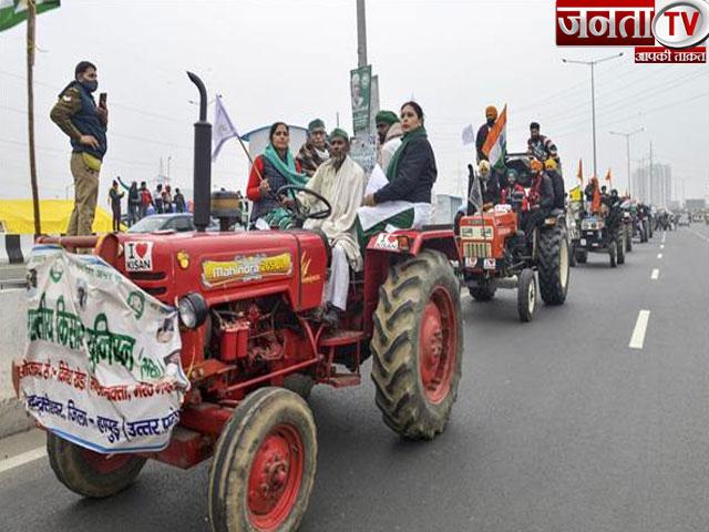 कृषि कानूनों के खिलाफ किसानों ने निकाली ट्रैक्टर रैली, आंदोलन को आगे और तेज करने की दी चेतावनी