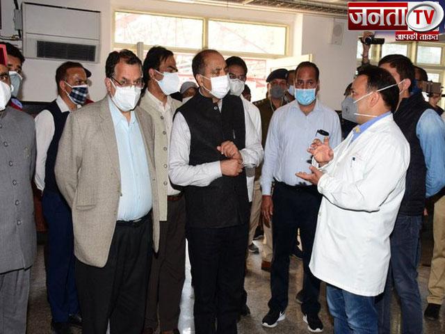 CM जयराम ठाकुर ने शिमला में नई OPD का किया निरीक्षण, वैक्सीनेशन को लेकर कही ये बात