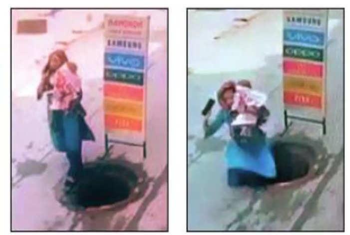 फरीदाबाद: बच्चे संग मैनहोल में गिरी महिला, लोगों ने बचाई जान, देखें वीडियो?h=220&mode=max