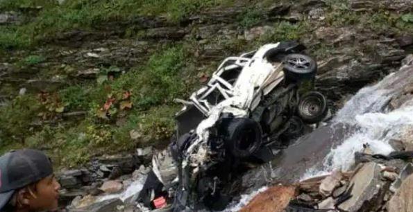 Himachal के Lahaul Spiti में जीप खाई में गिरी, तीन लोगों की मौत
