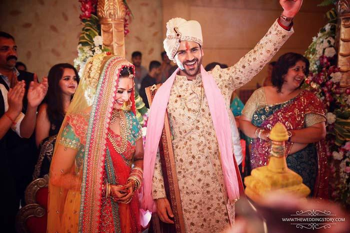 Divyanka and Vivek could not be happier at the wedding.