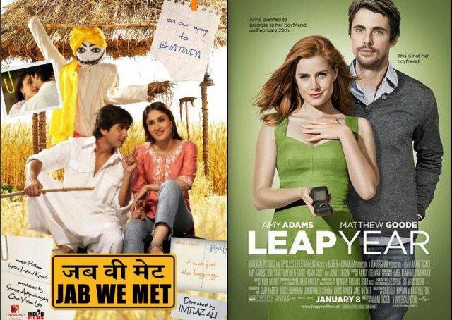 Hollywood की Leap year  मूवी Jab We Met की कॉपी है।