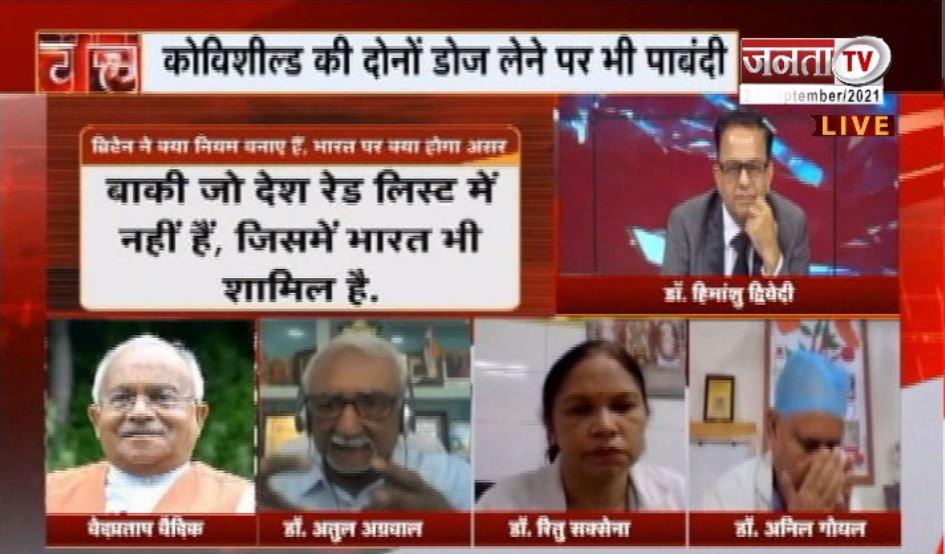 Charcha: टीके पर ब्रिटेन का टकराव, देखिए 'चर्चा' प्रधान संपादक Dr Himanshu Dwivedi के साथ